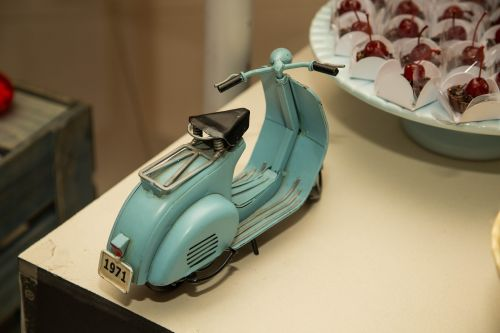 scooter toy decoration