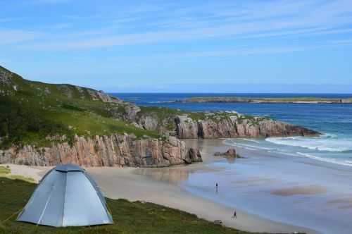 scotland camping beach