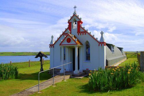 scotland,orkney,italian chapel,scottish,island,chapel,world war 2,italian