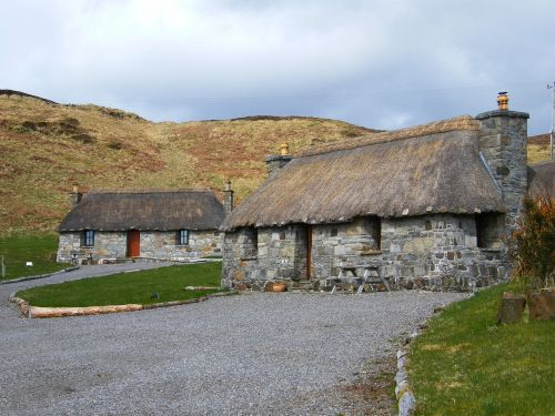 scotland isle of skye thatched cottages