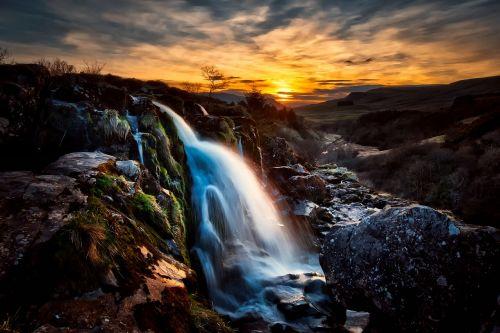 scotland sunset dusk
