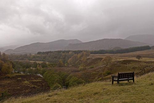 Škotija,peizažas,stendas,kraštovaizdis,kalnai,purvinas,šventė,atostogos,sėdėti,poilsis,vaikščioti,lipti,virėja,žolė