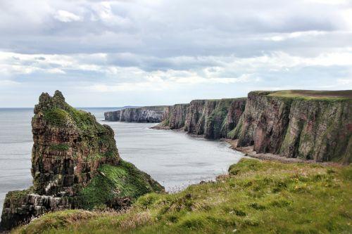 scotland coast cliffs