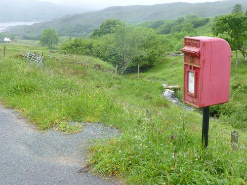 scotland unusual letters box