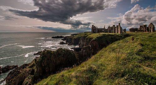 scotland  castle  slains castle