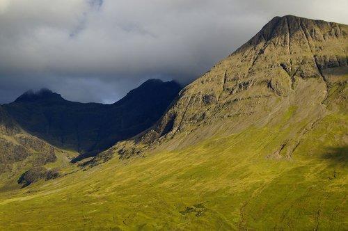 scotland  isle of skye  abendstimmung