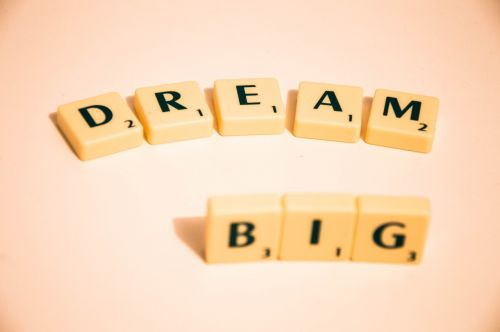 scrabble dream big note