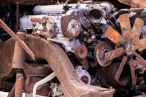 scrap rusty old
