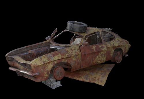 scrap car wreck pkw