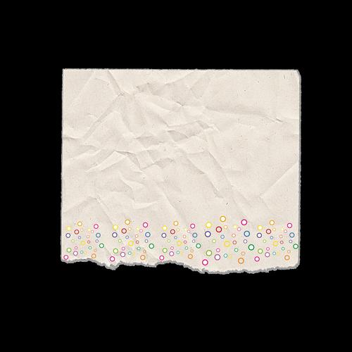 scrap paper  torn  rounds