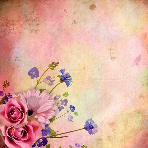 iškarpų albumas,fonas,vintage,popierius,grunch,Scrapbooker,foninis iškarpų albumas,gėlės,rožinis