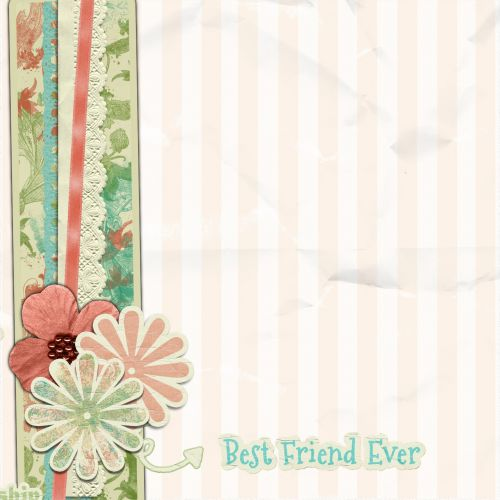 Scrapbook Page Flower Soft Green