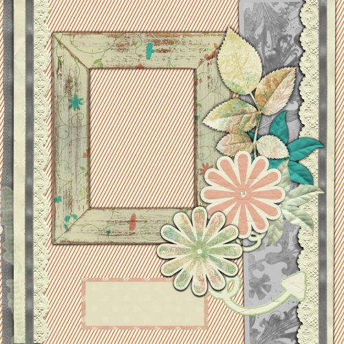 Scrapbook Page Flower With Frame