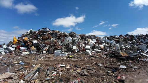 scrapyard metal waste