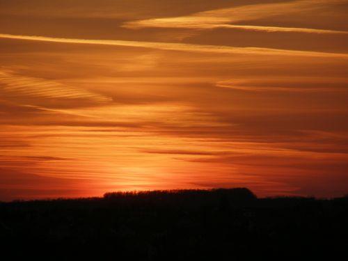 scratched sky horizon