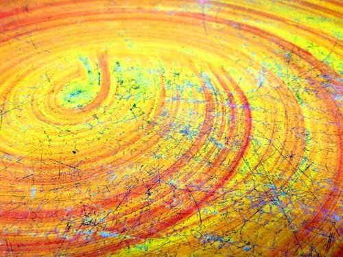 Scratched Swirl Background
