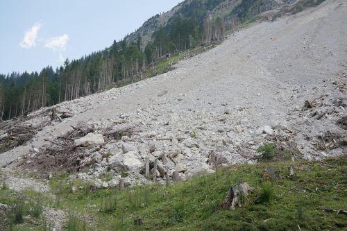 scree stones rock fall