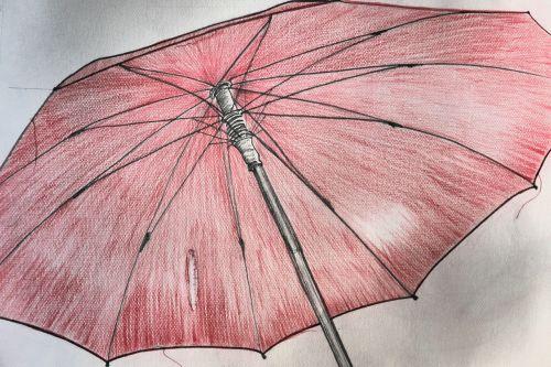 screen umbrella red