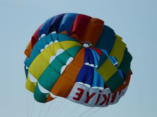 screen parachute colorful