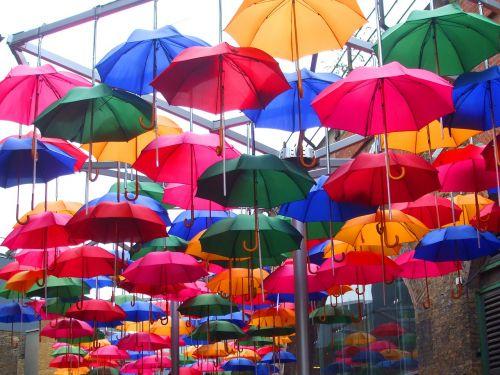 screens umbrellas colored umbrellas