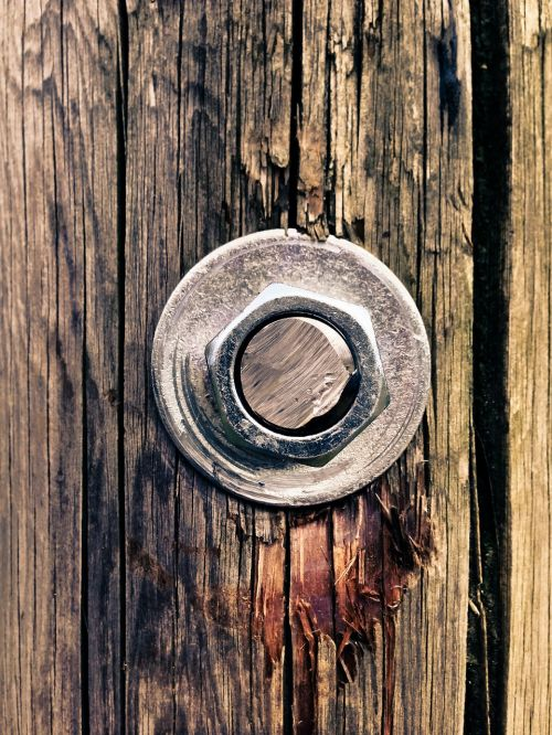 screw wood metal