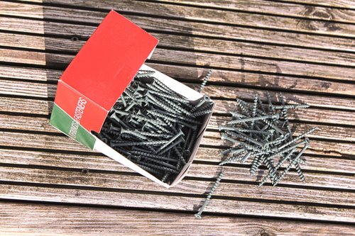 screw  wooden decking  fix