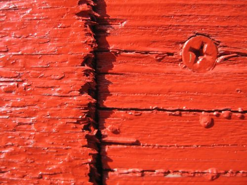 screw wood red
