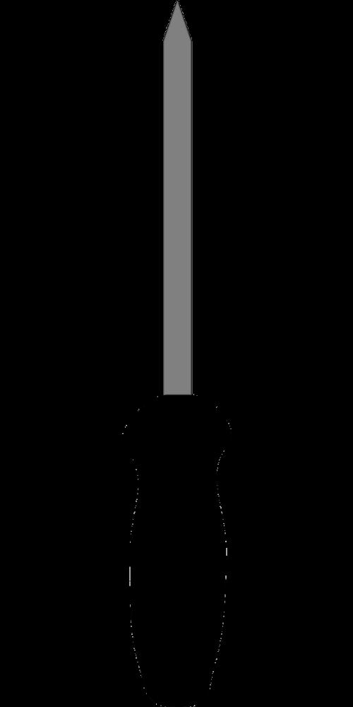 screwdriver black tool