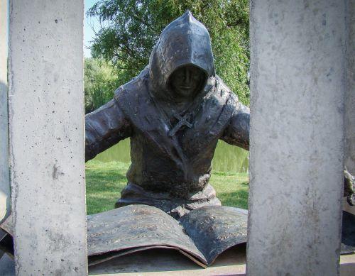 scribe writer statue