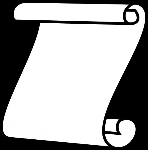 scroll paper white