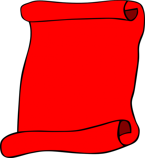 scroll paper blank