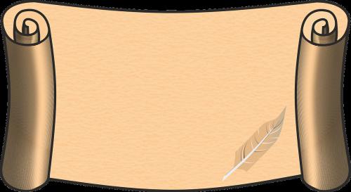 scroll paper pen