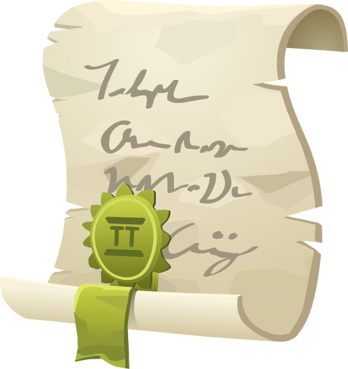 scroll certificate ribbon