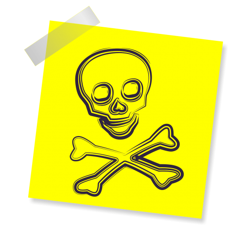 scull sign icon