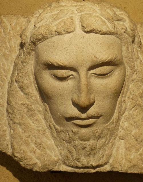 sculpture relief head