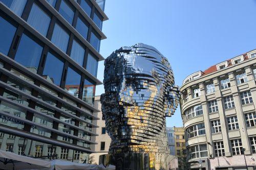 sculpture monument franz kafka