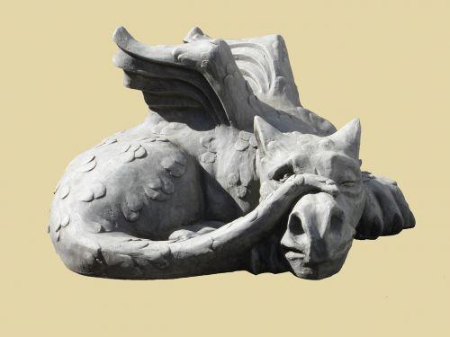 sculpture dragon lindwurm