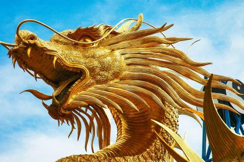 sculpture dragons dragon's head
