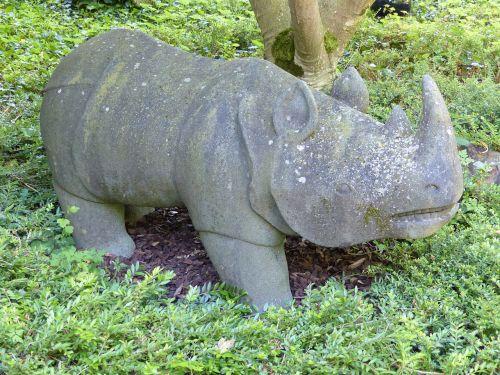 sculpture stone rhino