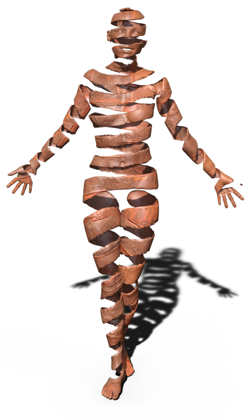 sculpture chakra figure