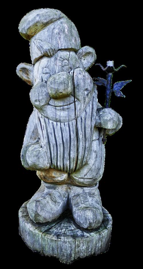 sculpture holzfigur dwarf