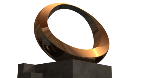 sculpture isolated gold