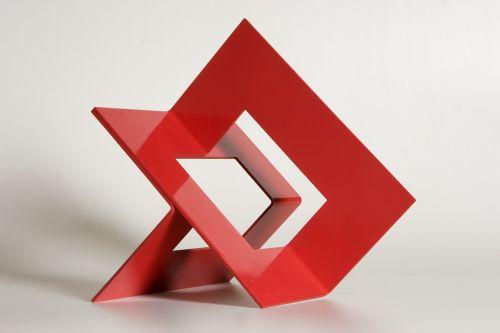 sculpture metal red