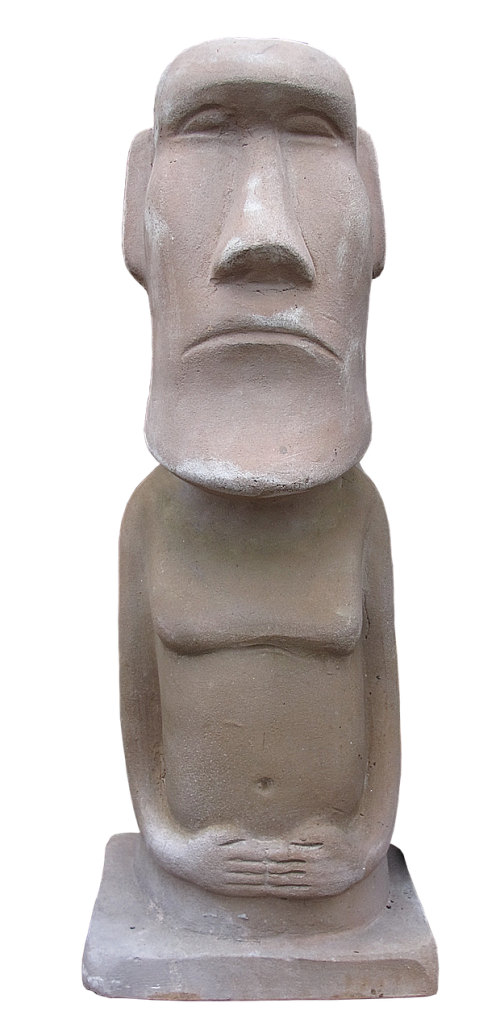 sculpture easter island ceramic