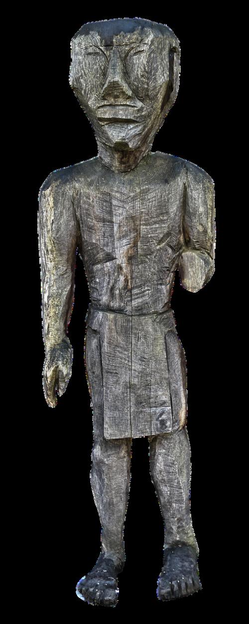 sculpture holzfigur man