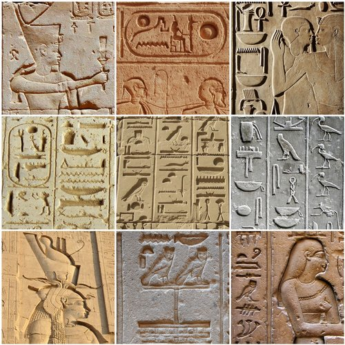 sculpture  pharaoh  hieroglyph