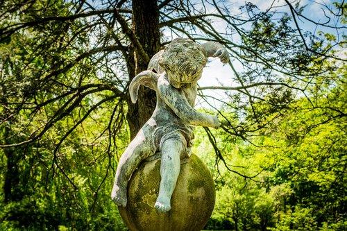 sculpture  statue  cupid