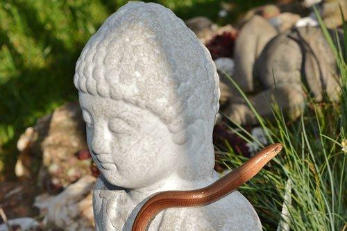 sculpture  slow worm  mystical