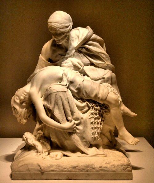 sculpture sorrow stone