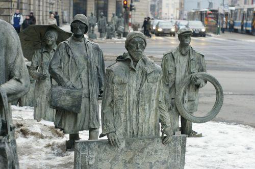 sculpture wrocław street